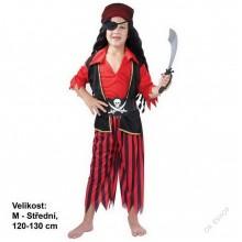 Dětský karnevalový kostým PIRÁT JOHN OČKO 120 - 130cm ( 5 - 9 let )